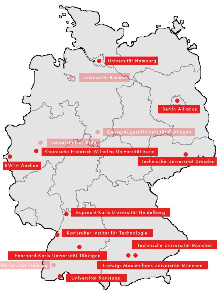 Map Of German Universities.Germany To Strengthen 11 Universities To Elite Status